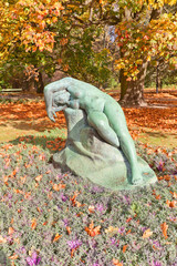Sculpture Eve (1920) in Ujazdow Park of Warsaw, Poland