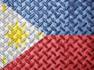 Philippines flag on grunge wall