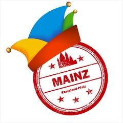 Karneval in Mainz Helau Stempel Narrenkappe Fasching