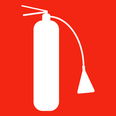 Fire extinguisher isolated icon. Vector