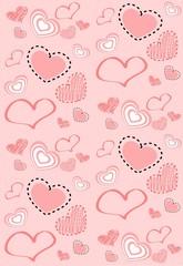 Фон розовый сердечки к дню святого валентина