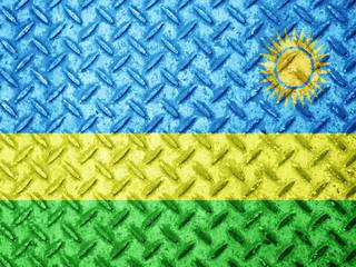 Rwanda flag on grunge wall