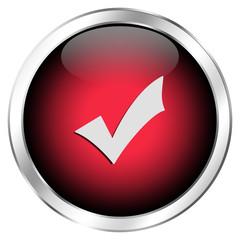 Roter Erledigt-Button mit Haken
