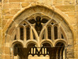 canvas print picture - stone arch detail,  Sherborne