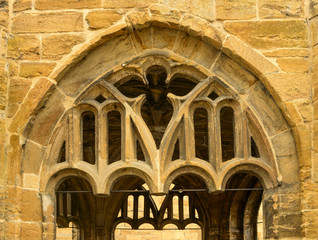 stone arch detail,  Sherborne