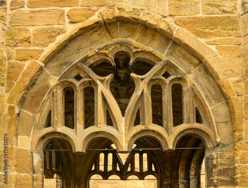 canvas print picture stone arch detail,  Sherborne