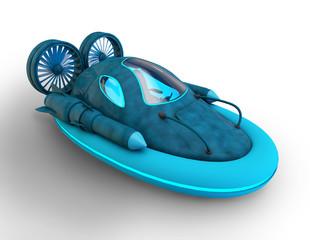 3d futuristic hover car