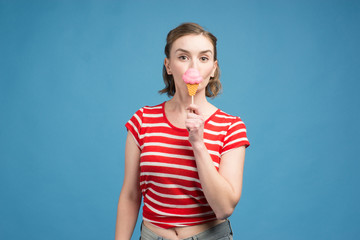 GIRL WITH BIG CANDY