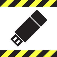 usb stick vector icon