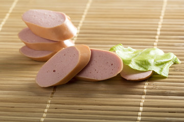 Sausages slices