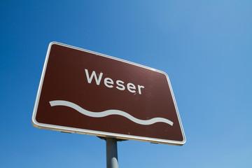 Schild Minden an der Weser, NRW