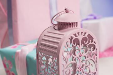 iron pink bird cage