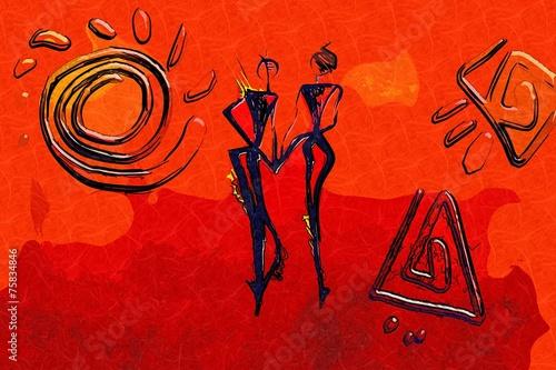 Africa retro vintage style - 75834846