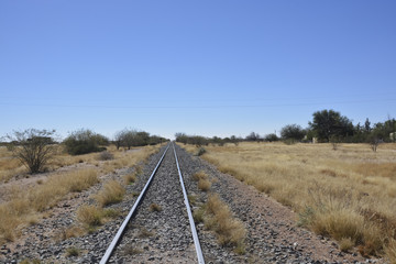 Straight track, Namibia, Africa