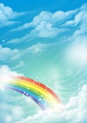 arcoíris en el cielo