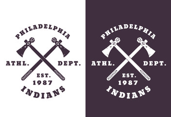 Philadelphia Indians emblem vector illustration