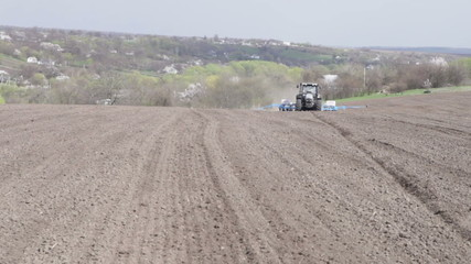 tractor with drill seeded black box zoom