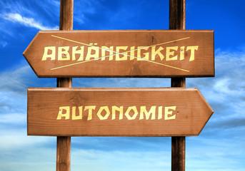 Strassenschild 29 - Autonomie