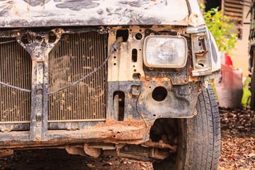 Accident crash damaged car