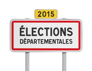 Panneau - Elections Departementales 2015