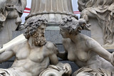 Detail of Pallas-Athene fountain in Vienna, Austria
