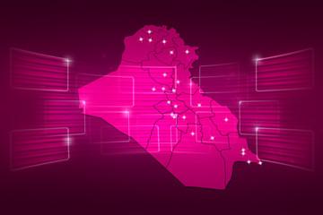 Iraq Map World map News Communication pink