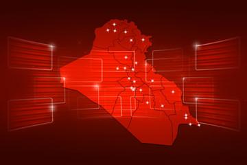 Iraq Map World map News Communication red