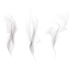 Vector set of smoke