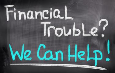 Financial Trouble Concept