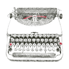 Typewriter typed