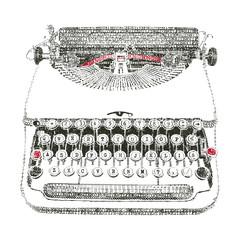 Typewriter typed