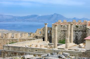 Athena temple over the Aegean sea