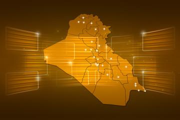 Iraq Map World map News Communication yellow gold