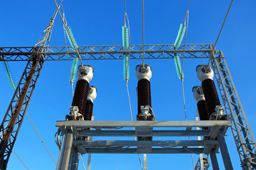 Electric substation.Equipment of electricity.