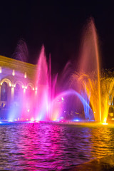 Singing fountains in the central Republic Square