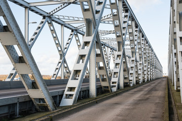 Old truss bridge in the Netherlands