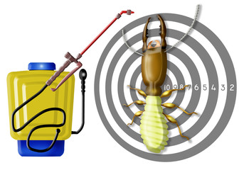 kill insects,professional sprayer, target,