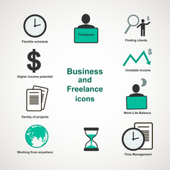 Business and freelance icons