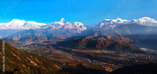 Foto op Aluminium Nepal Annapurna range view from Sarangkot, Pokhara, Nepal