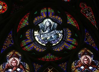 St Mark the Evangelist, Stained glass in Votiv Kirche in Vienna