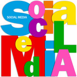 """""""SOCIAL MEDIA"""" Letter Collage (information society networking)"""