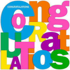"""""""CONGRATULATIONS"""" Letter Collage (card well done achievement)"""