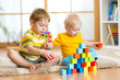 Kids playing in children room