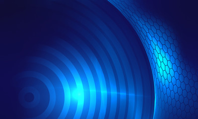 Blue Techno Abstract Background
