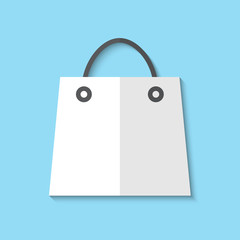 Vector shopping basket web flat icon