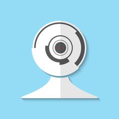 Vector web cam icon