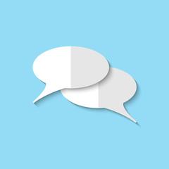 Vector speech bubble web icon