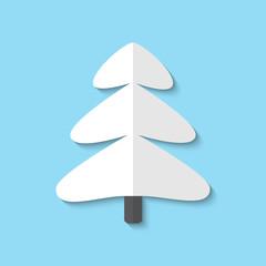Vector xmas tree web flat icon.