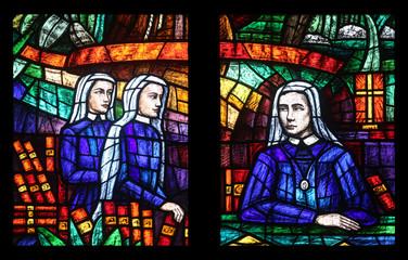 Africa window, Stained glass in Votiv Kirche in Vienna, Austria