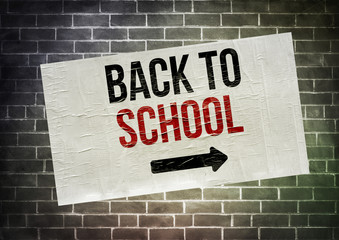 Back to school - poster concept